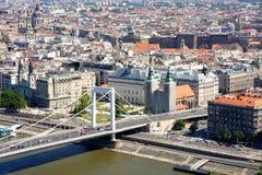 Passerelle d'Elizabeth, Budapest, Hongrie Photos libres de droits