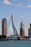 Passerelle d'Erasmus, Rotterdam Photos libres de droits