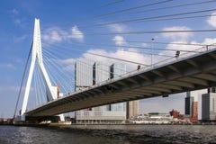 Passerelle d'Erasmus, Rotterdam Image libre de droits