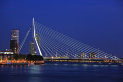 Passerelle d'Erasmus, Rotterdam Photo stock