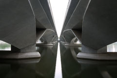 Passerelle d'esplanade Image stock