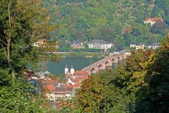 Passerelle d'Heidelberg Photographie stock libre de droits