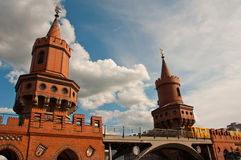 Passerelle d'Oberbaum, Berlin Photo stock