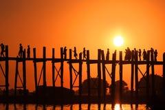 Passerelle d'U Bein Photographie stock libre de droits