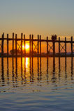 Passerelle d'U Bein, Mandalay, Myanmar Image libre de droits