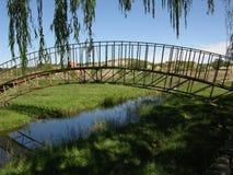 Passerelle dans le fleuve Photos libres de droits
