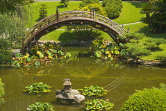 Passerelle dans le jardin japonais Image stock
