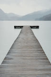 Passerelle dans le lac   Photos libres de droits
