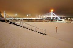 Passerelle dans Rovaniemi Photos libres de droits