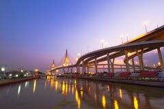 Passerelle de Bhumibol Image stock