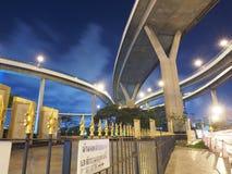 Passerelle de Bhumibol de la Thaïlande Photographie stock