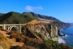 Passerelle de Bixby - grand Sur - Californie photo stock
