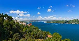 Passerelle de Bosphorus à Istanbul Turquie Photographie stock libre de droits