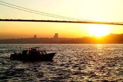 Passerelle de Bosphorus Image libre de droits