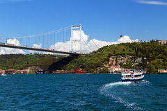 Passerelle de Bosphorus, Istanbul, Turquie Photo stock