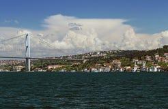 Passerelle de Bosphorus, Istanbul, Turquie Images libres de droits