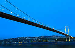 Passerelle de Bosphorus, Istanbul, Turquie Photos stock
