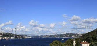Passerelle de Bosphorus, Istanbul, Turquie Image libre de droits