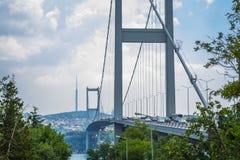 Passerelle de Bosphorus Nouveau nom : Pont de martyre du 15 juillet images stock