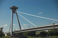 Passerelle de Bratislava Images libres de droits