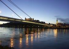 Passerelle de Bratislava Photographie stock libre de droits