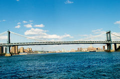 Passerelle de Brooklyn à New York Images libres de droits