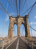 Passerelle de Brooklyn à New York. Photo libre de droits