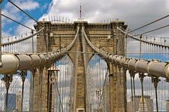 Passerelle de Brooklyn à New York Image stock