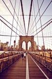 Passerelle de Brooklyn à New York photo libre de droits