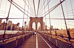 Passerelle de Brooklyn à New York photographie stock