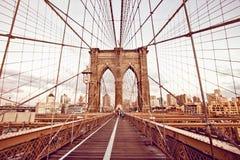 Passerelle de Brooklyn à New York image libre de droits