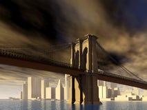 Passerelle de Brooklyn à New York Photo stock