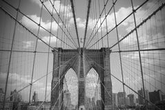 Passerelle de Brooklyn Images libres de droits