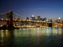 Passerelle de Brooklyn Photographie stock