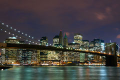 Passerelle de Brooklyn Image stock