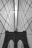 Passerelle de Brooklyn B&W Image libre de droits