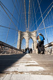 Passerelle de Brooklyn d'angle faible Photo libre de droits