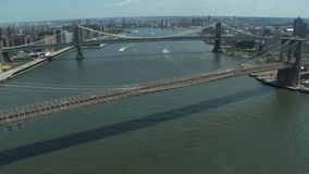 Passerelle de Brooklyn et de Manhattan banque de vidéos