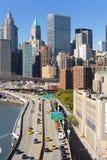 Passerelle de Brooklyn et Manhattan Image libre de droits
