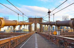 Passerelle de Brooklyn, Manhattan, New York City Photos libres de droits