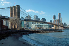 Passerelle de Brooklyn New York Photo libre de droits