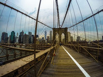Passerelle de Brooklyn, New York Photos stock
