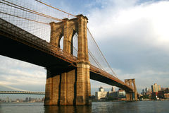 Passerelle de Brooklyn New York Image stock