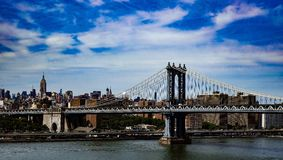 Passerelle de Brooklyn New York Photos stock