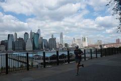 Passerelle de Brooklyn, New York Photo stock