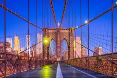 Passerelle de Brooklyn New York Photographie stock