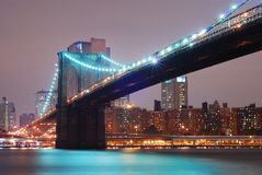 Passerelle de Brooklyn, New York City image libre de droits