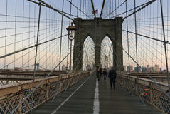 Passerelle de Brooklyn, New York City Photo stock