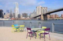 Passerelle de Brooklyn New York City Photographie stock
