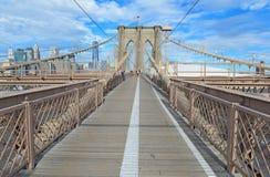 Passerelle de Brooklyn, New York City Image libre de droits